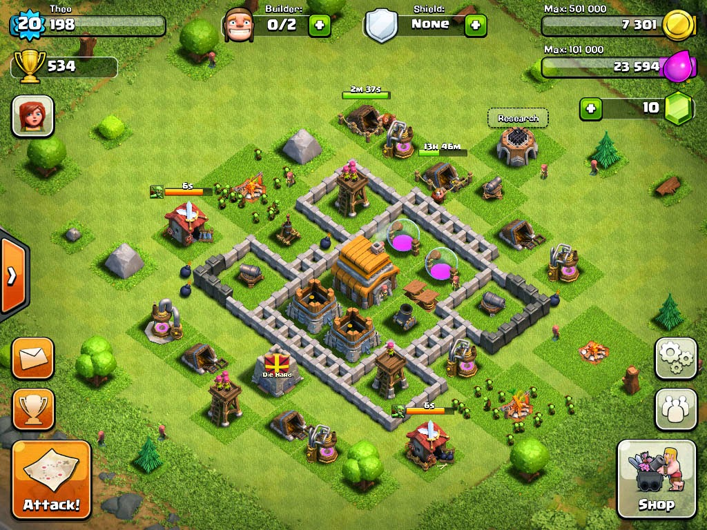 clash of clans building development strategy clash of clans town