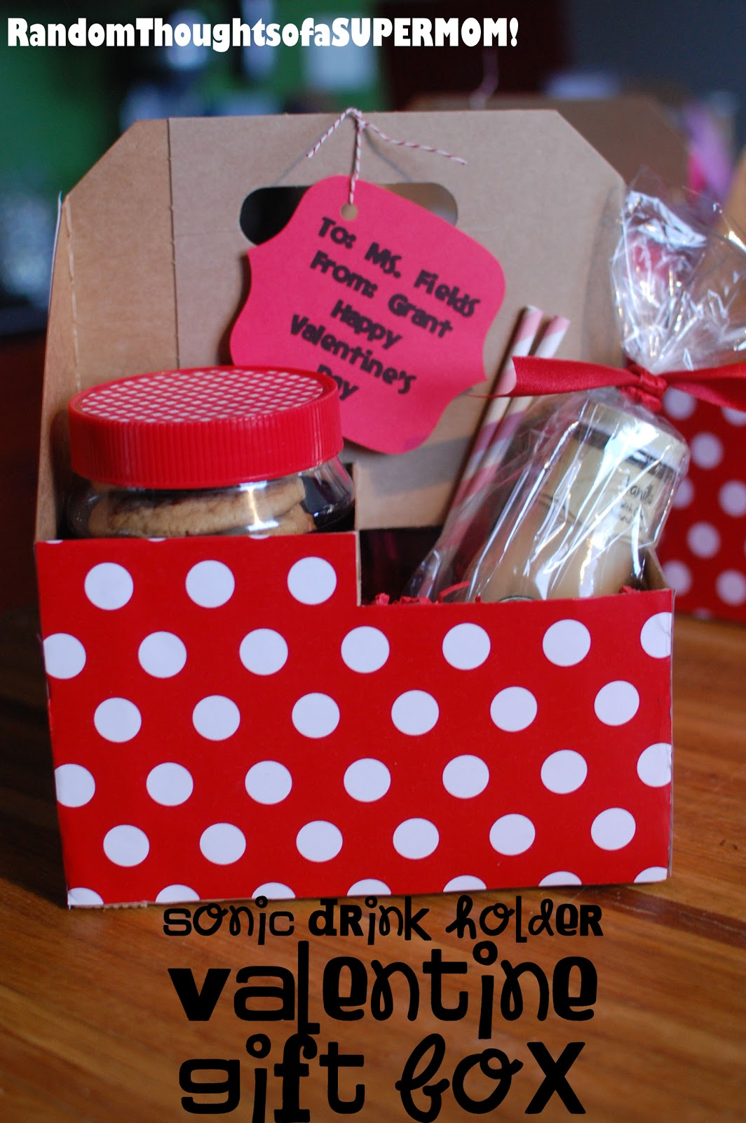 Random Thoughts Of A Supermom Sonic Drink Holder Valentine Gift Box