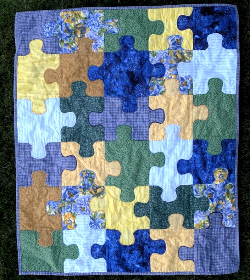 Jigsaw Puzzle Baby Quilt - Free Pattern