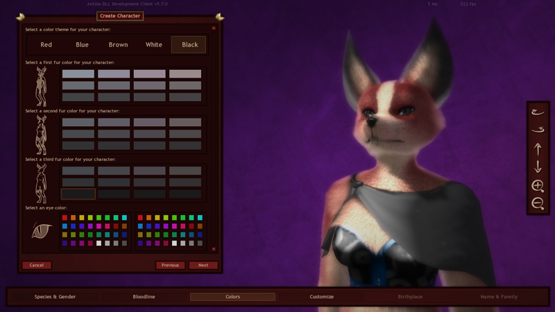 Character Design Generator Game : Kitsuneverse furry anthro mmorpg quot antilia is