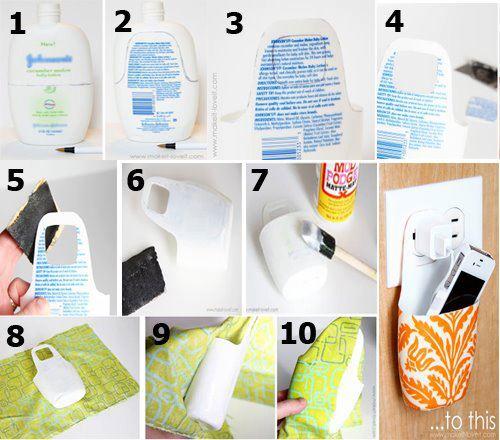 porta celular material reciclado