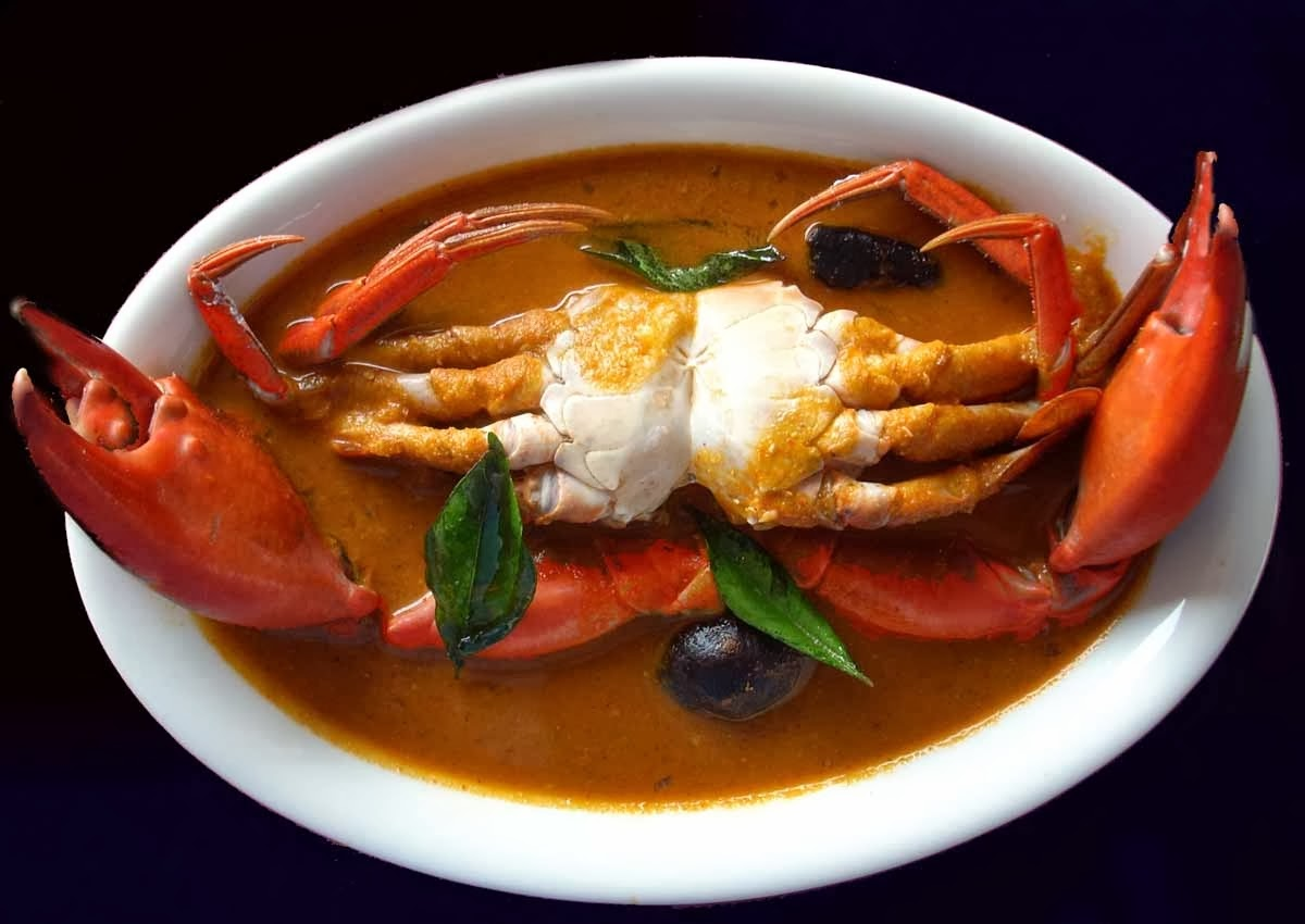 how to eat crab curry