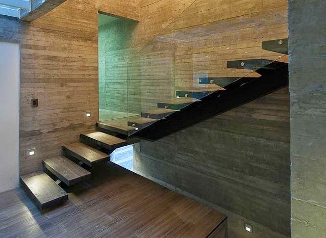 Datri y dasa casas dise adas por mavarq en m xico arquitexs for Diseno escaleras para segundo piso