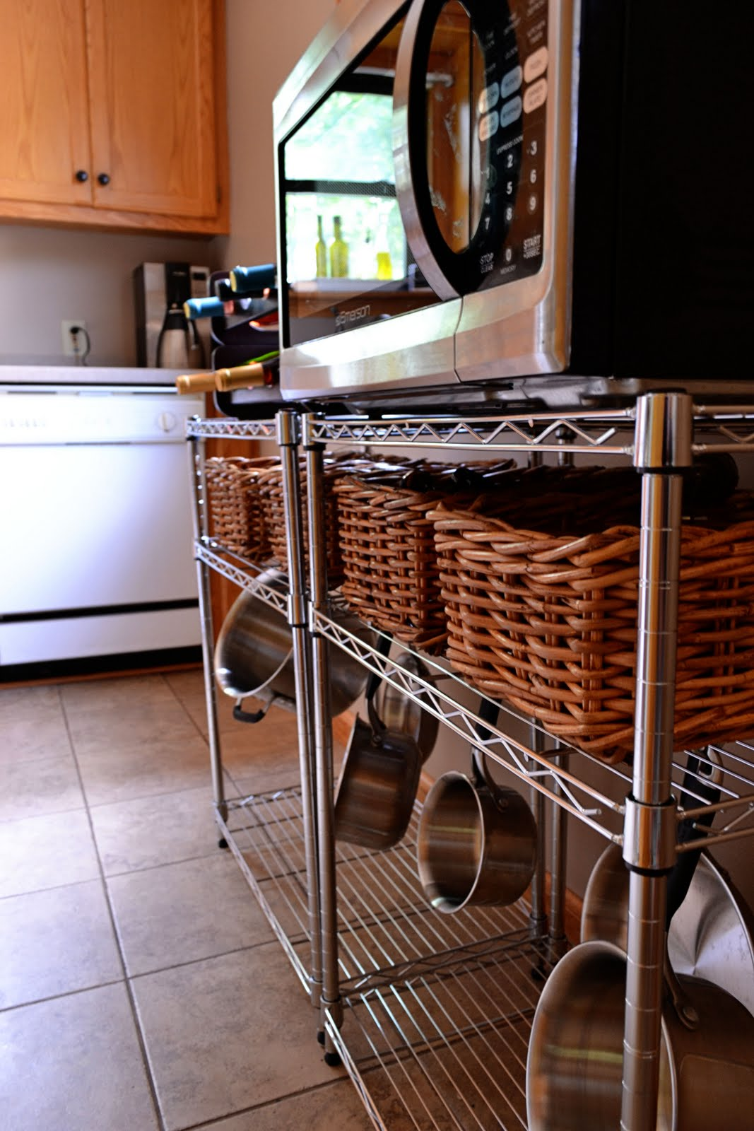 Microwave Stand Designs : Work with what you got microwave stand the domestic domicile