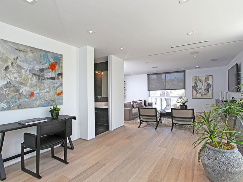 Interior of Sharp modern home on Sunset Strip