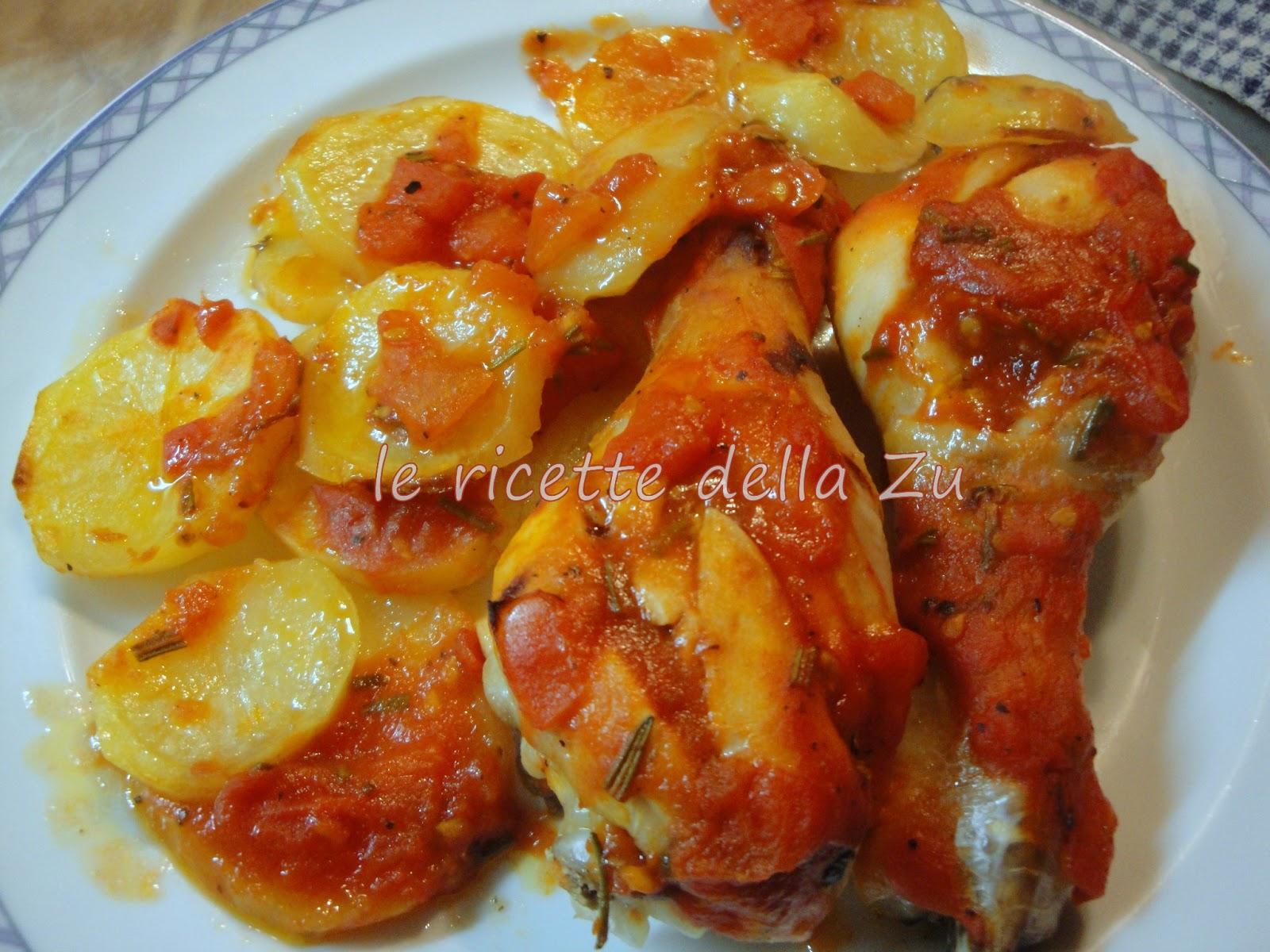 Le Ricette Della Zu Pollo Al Forno Con Patate E Pomodoro