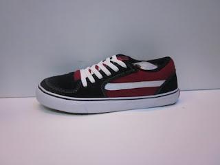 Sepatu Vans Tnt Merah, Sepatu Vans Hitam sol putih