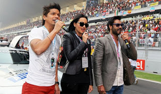Ajay Devgan and Sonakshi at F1 Indian Grand Prix in Buddh International Circuit