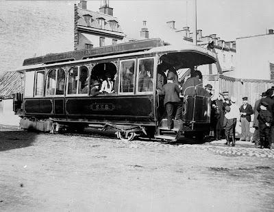 Ångspårvagn på Ringvägen 1901