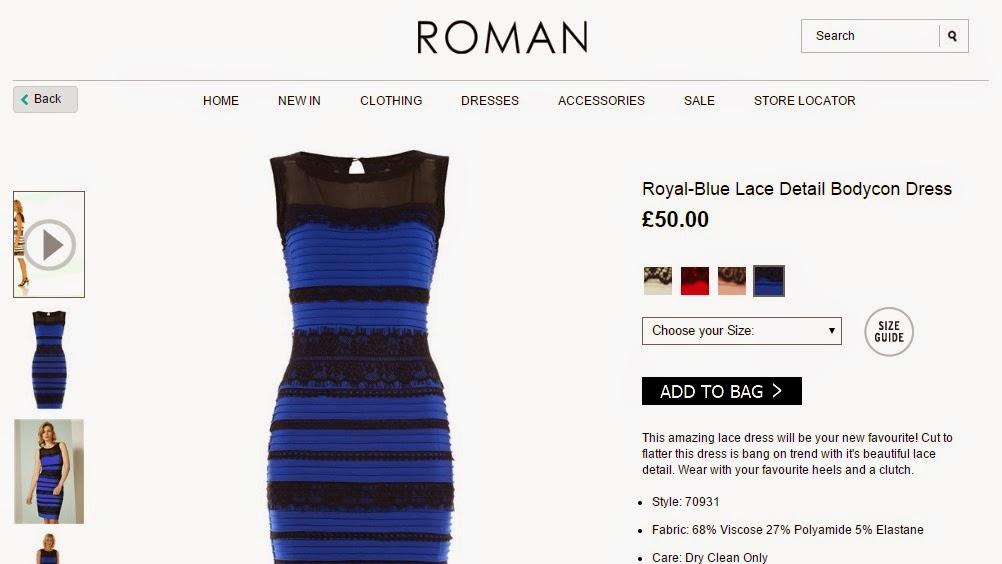 Vestido preto e azul que parou a internet