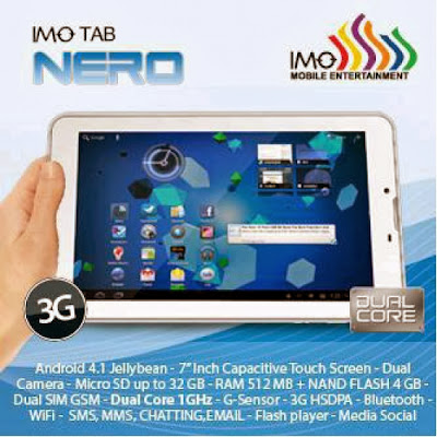 IMO Tab Z8 Nero - Spesifikasi Tablet Android Android Jelly Bean Dual Core Harga 1 Jutaan