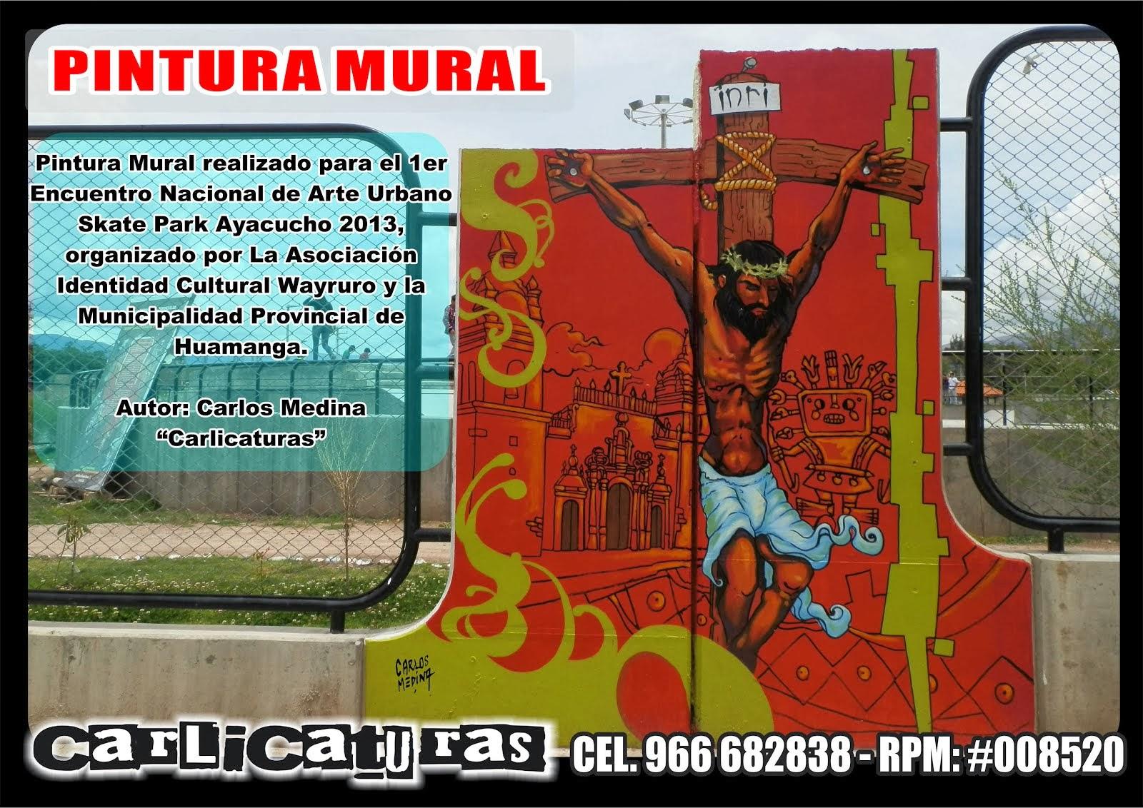 MURAL ARTÍSTICO PINTADO EN EL SKATE PARK EN AYACUCHO PERÚ