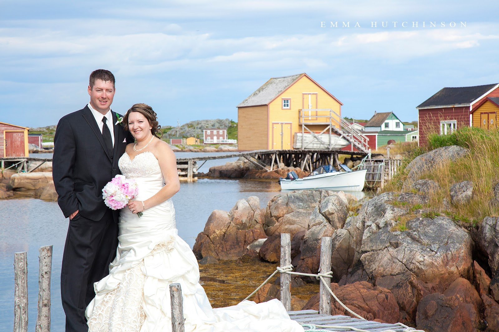 Weddings in Tilting, Fogo Island - photograph of Bride and Groom