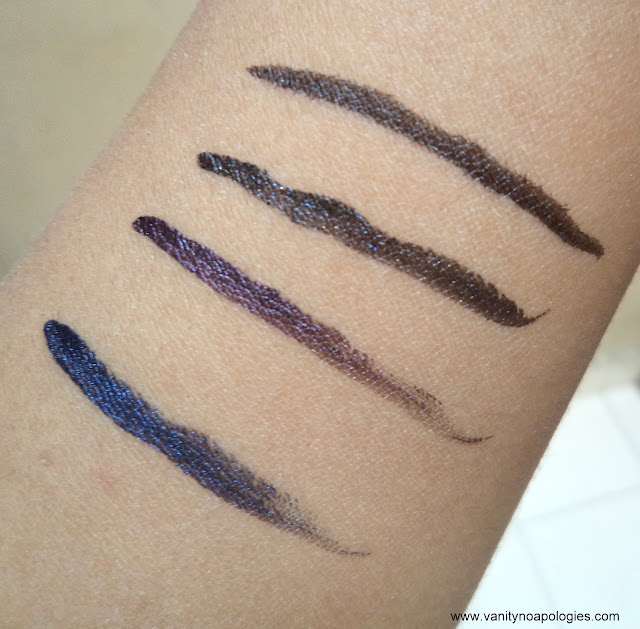 L'Oreal Paris L'OR Electric eye liners swatches