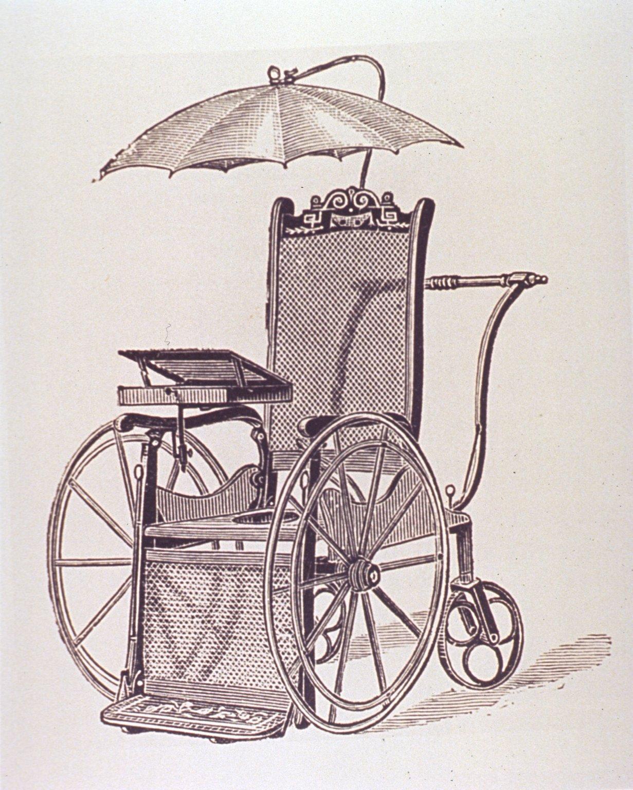 antique wheelchair etching - Kell Belle Studio: Curious Clip Art