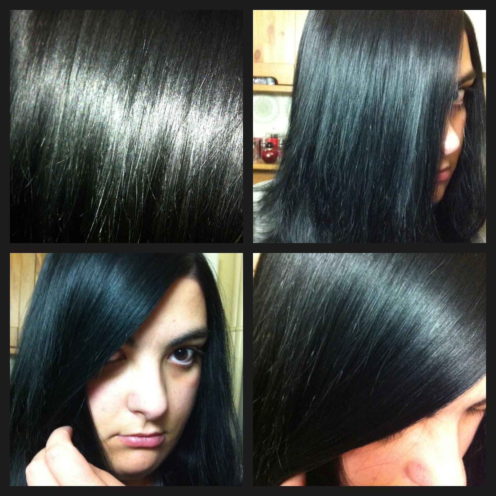 Couleur de cheveux noir intense