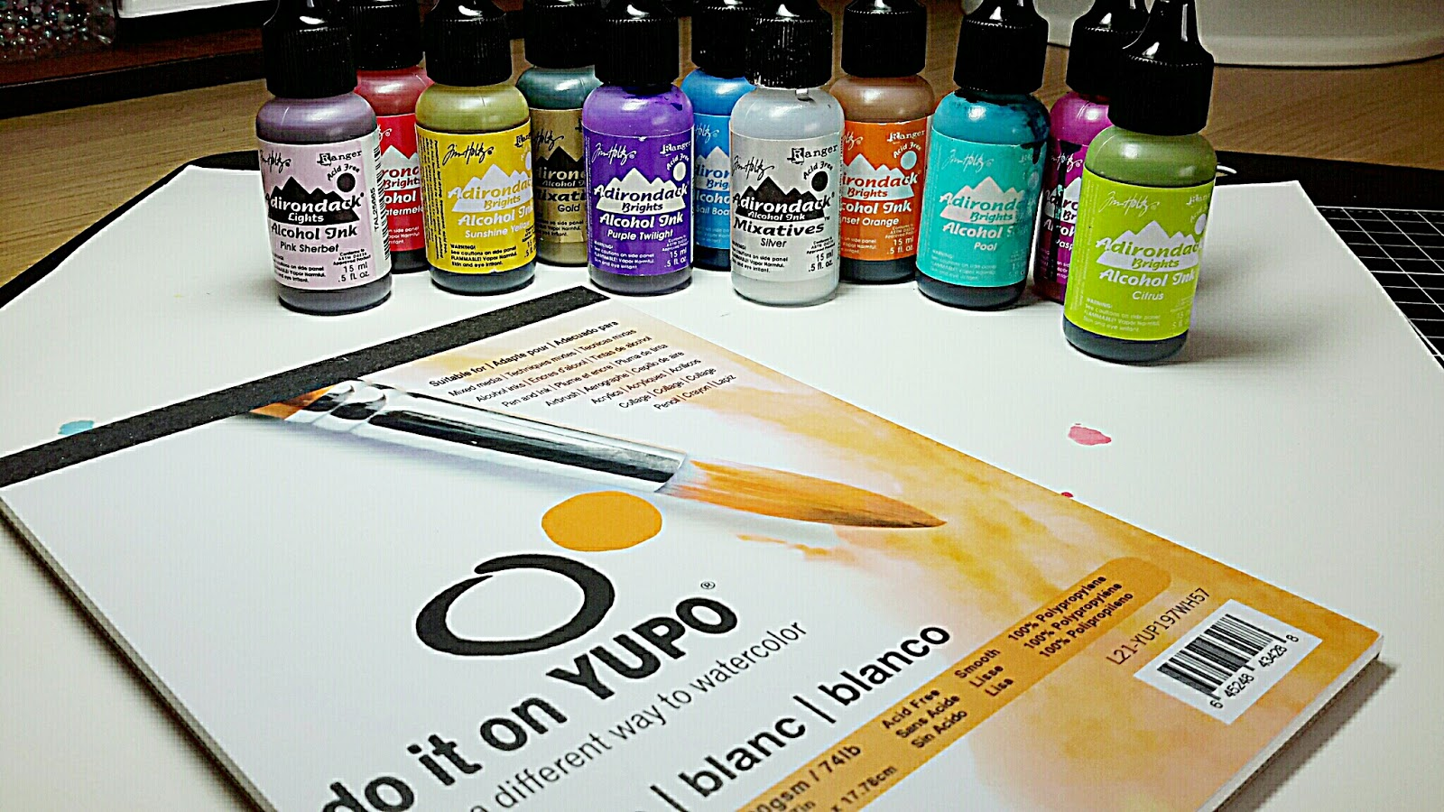 Janeys cards yupo alcohol inks ive had these alcohol inks for about 100 years give or take and was googling for alternative ways to use them other than splodging them on glossy card baditri Images
