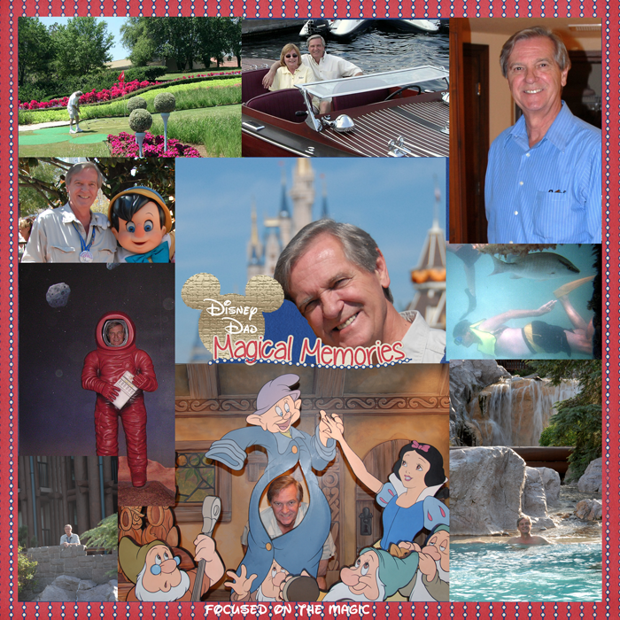 In honor of Father's Day on Sunday.  This week's theme is ~Disney Dad ~