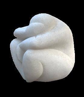 Statue Art contemporain : Une femme assise, la tête dans les mains, pleure