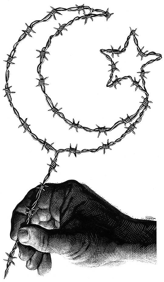 Ilustración, scratch y arte de Ricardo Martinez