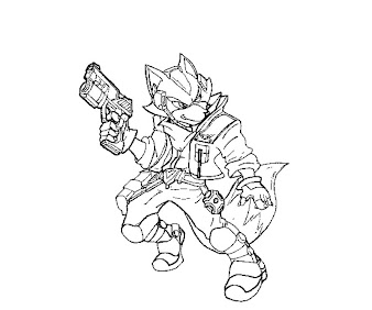 #18 Fox McCloud Coloring Page