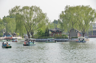 Boats on Qianhai near Houhai in Beijing