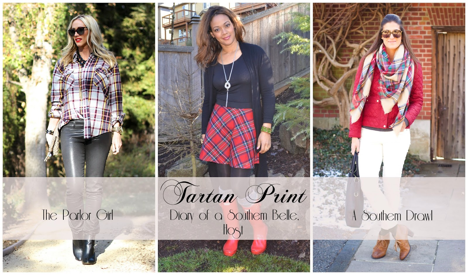 tartan print styled 3 different ways