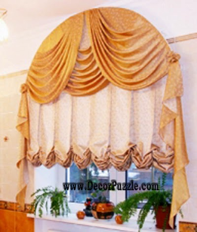 luxury classic curtains and drapes for arch window, arched curtains designs 2015