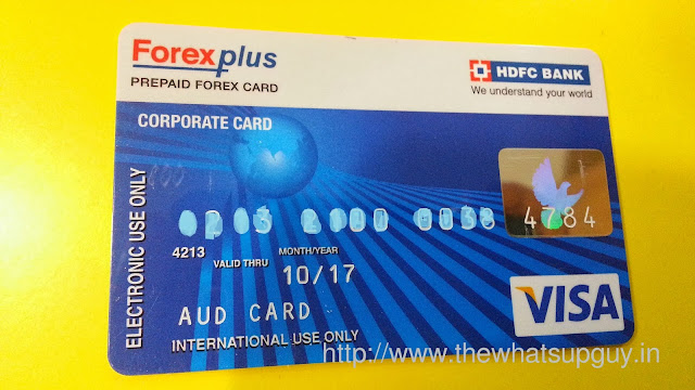 Travel Card HDFC Bank