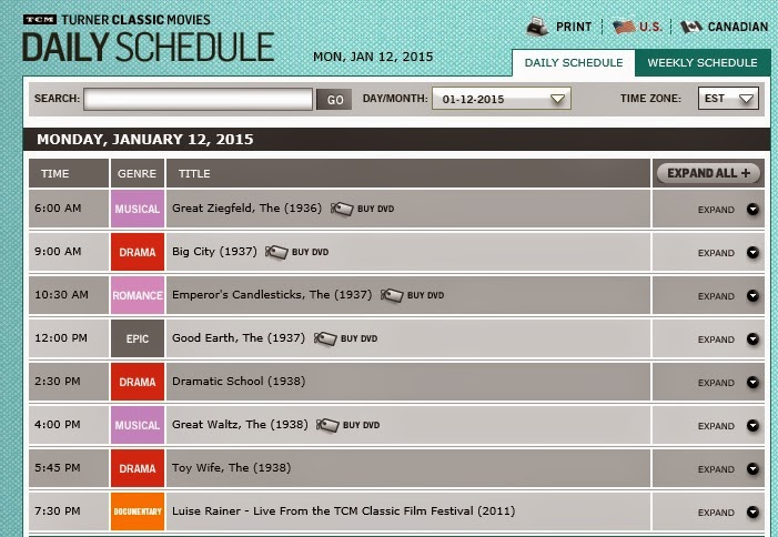 TCM Monthly Schedule  Turner Classic Movies