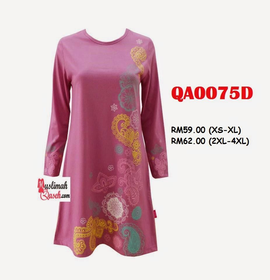 T-Shirt-Muslimah-Qaseh-QA0075D