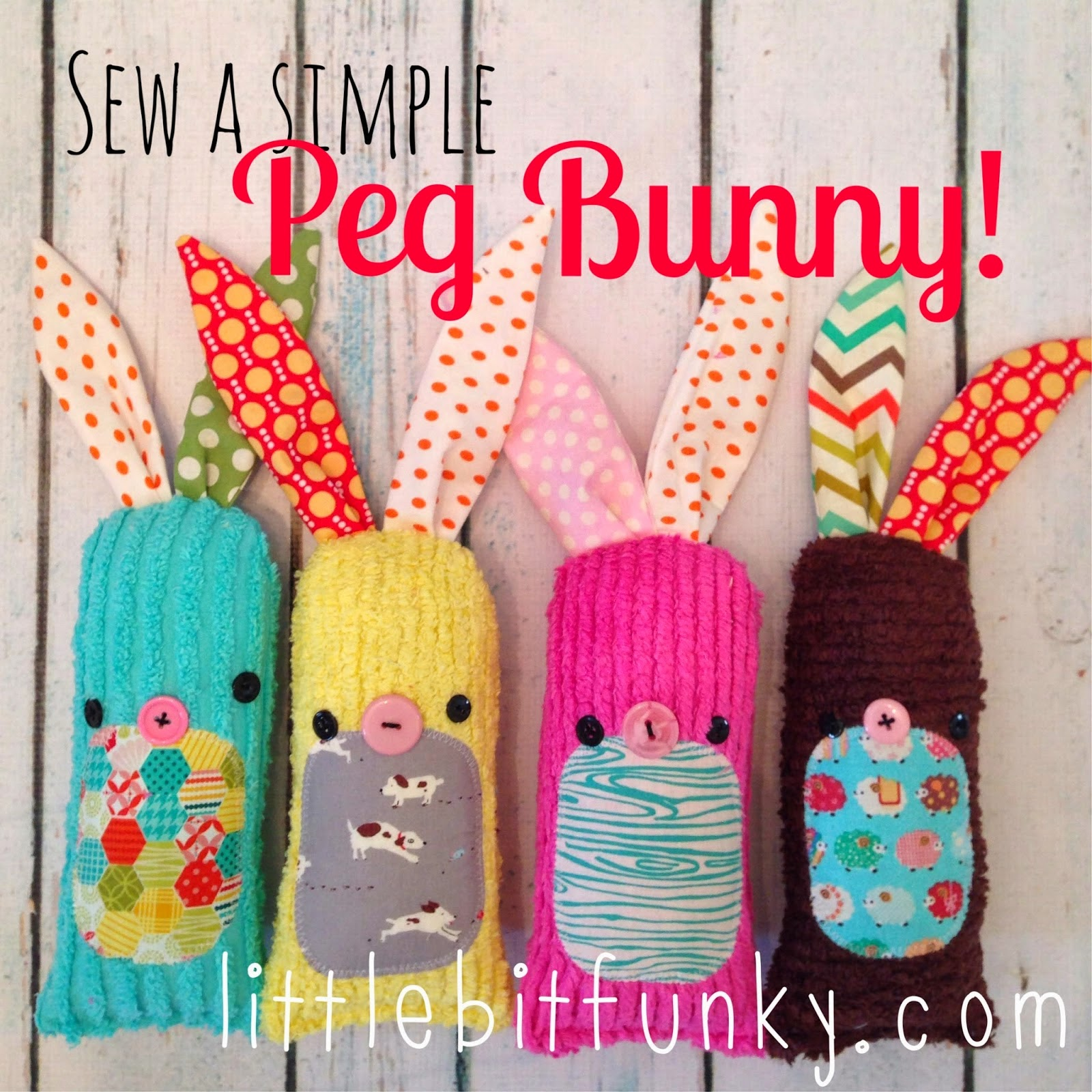 sew bunny pegs