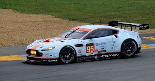 Allan Simonsen pilotant l'Aston Martin Racing Vantage GTE n°95