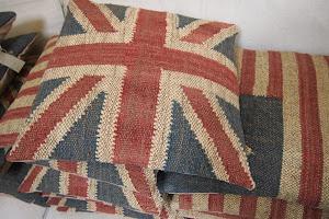 union jack cushions......
