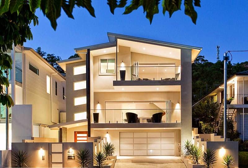 Fachadas de casas modernas fachadas de casas modernas con for Balcones minimalistas fotos