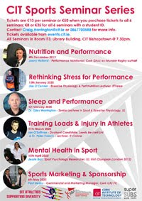 Sports Seminar Series in Cork City - Dec 2019 to Apr 2020
