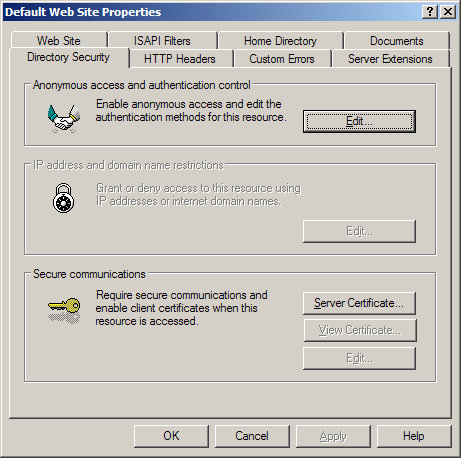 In Windows Server 2003 Make Sure That The Website Is Hosting Address Book Has A Valid SSL Certificate Installed To Do This Follow These Steps