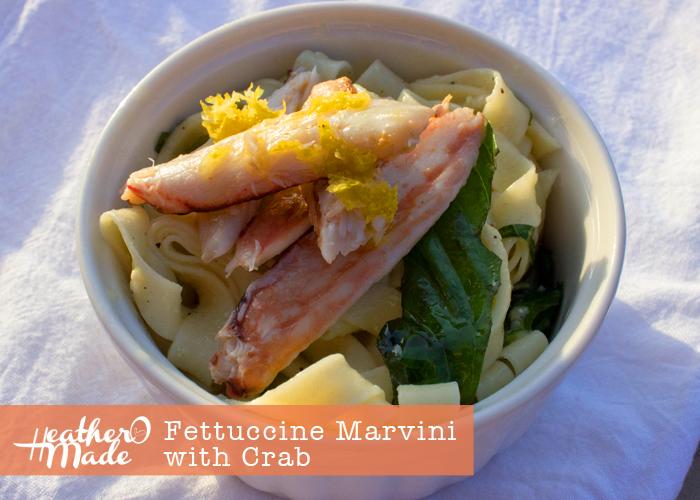 Fettucine Marvini with Crab recipe