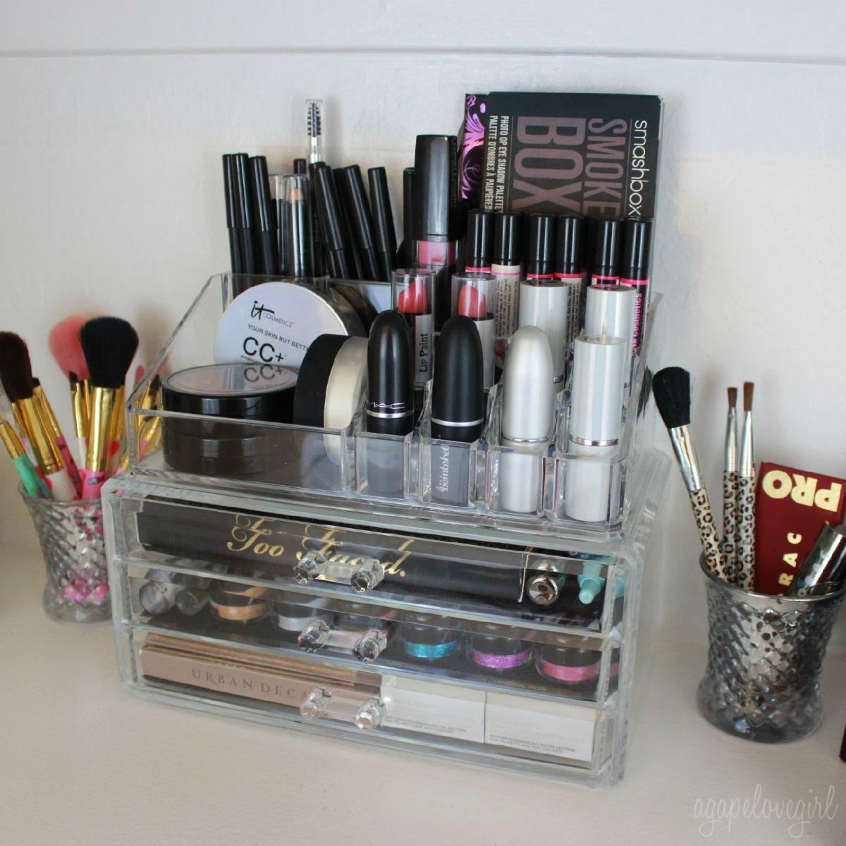 agape love designs makeup storage organizers. Black Bedroom Furniture Sets. Home Design Ideas