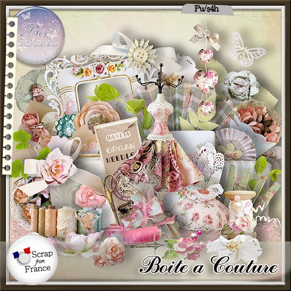 Digital creations by shirl boite a couture by bee creations for Kit boite a couture