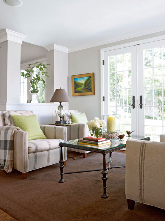 Take five ideas for arranging a room the cottage market - Arrange sectional sofa small living room ...