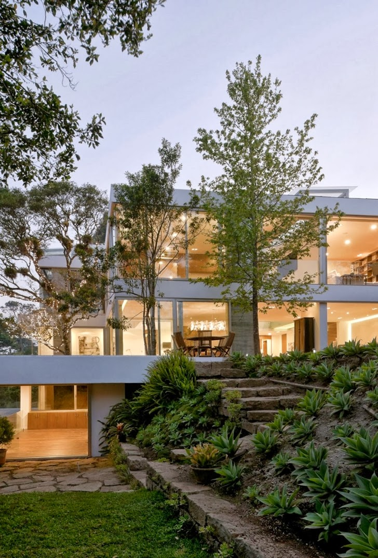 Outdoors around Modern dream home by Paz Arquitectura