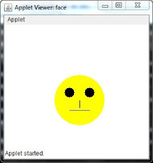 color colorful human smiley java applet code