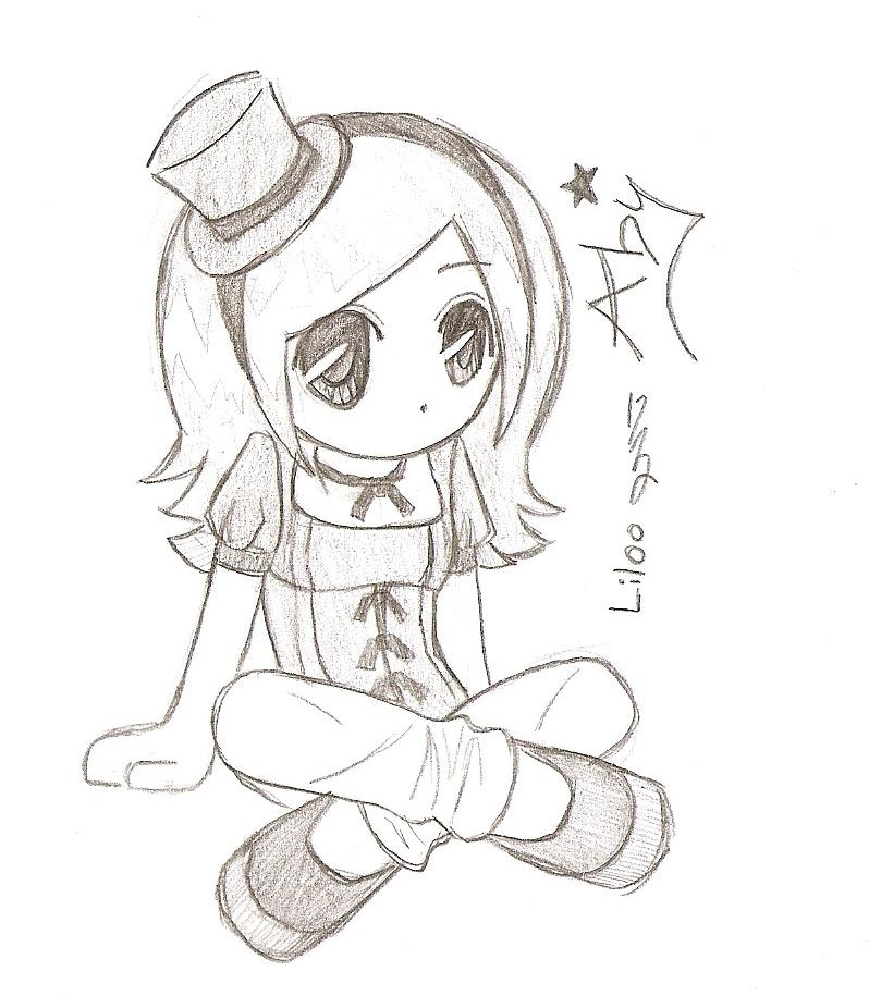 Cute chibi drawings girl chibi cute for Cute simple drawings