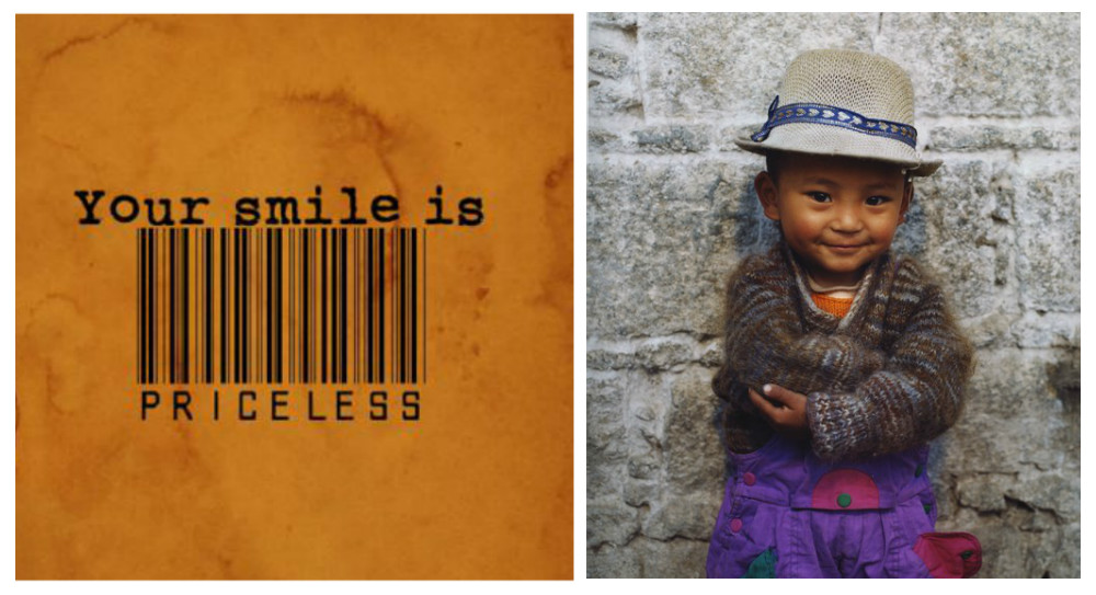 quote, smile, image, Tibetan child