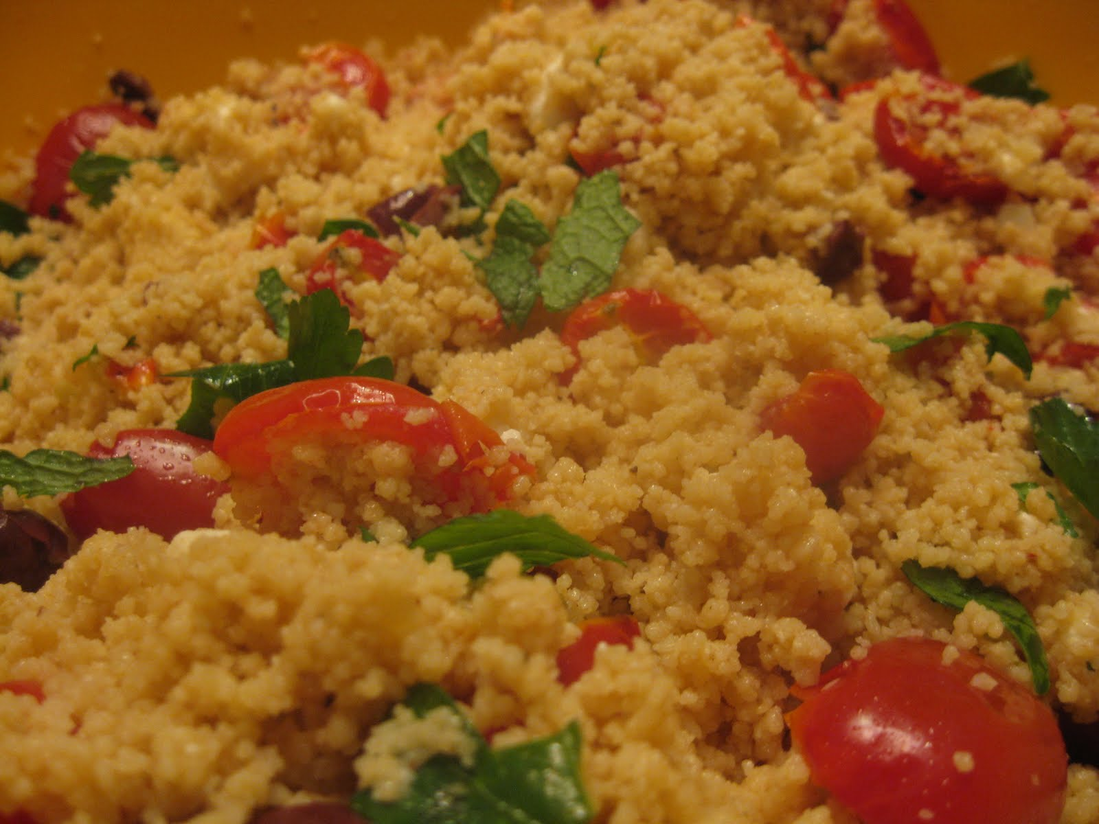 ... Wheat Couscous with Roasted Tomatoes and Roasted Garlic Dressing