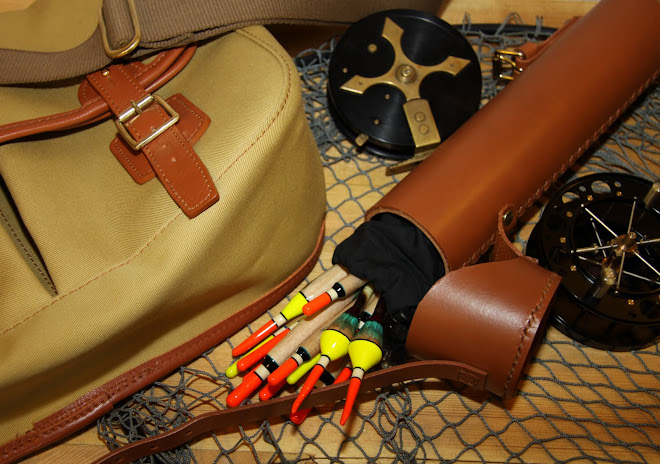 Canvas Bag with Leather Float Tube