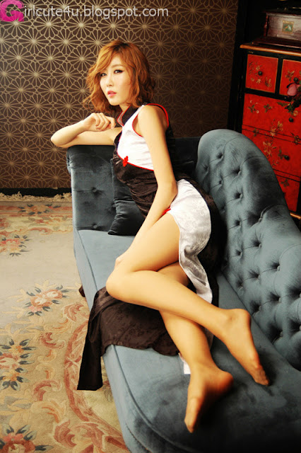 2 Choi Byeol Yee in Modern Cheongsam-very cute asian girl-girlcute4u.blogspot.com