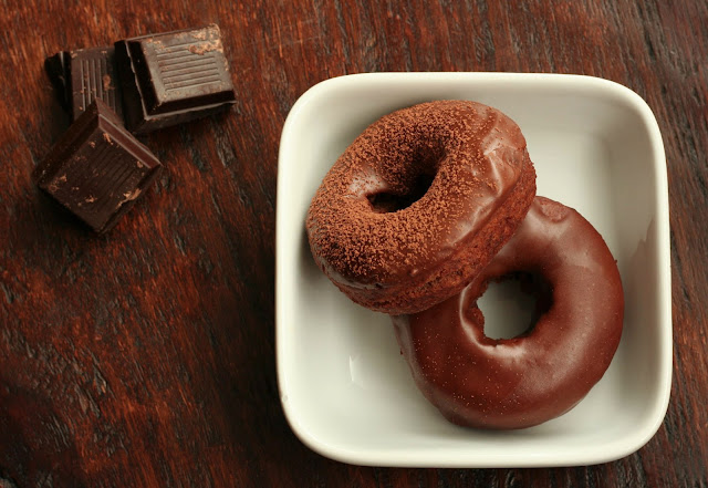 Chocolate Espresso Cake Doughnuts