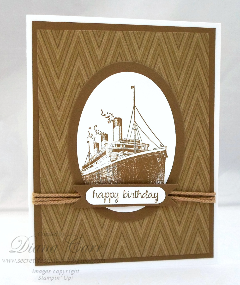 Masculine Stampin' Up! Birthday Card